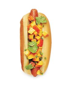 Peach Salsa Hot Dog Recipe