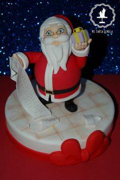 Papa Noel's Gift - by MITARTAGEMELA @ CakesDecor.com - cake decorating website