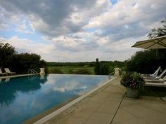 Pool overlooking Pete Dye Course at Keswick Hall in Charlottesville, VA. #hotel
