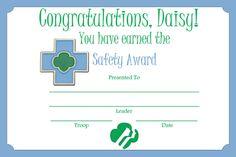 Girl Scout Certificates printable on Pinterest | Award Certificates ...