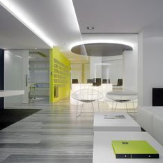 #Office #Interior #design #yellow #white #lighting #sandiegoofficedesign
