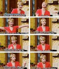 Jennifer Lawrence. the most relatable person in the world..