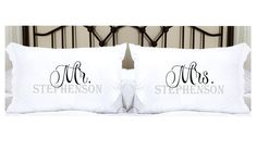 Personalized Pillowcases with Mr. and Mrs. and Last by TheCuteTee