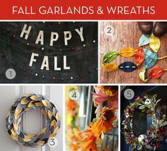 Roundup: 12 DIY Fall Wreaths and Garlands