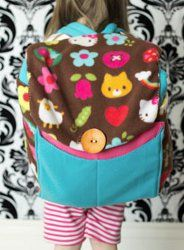 For kindly? Make your own sleeping bag that can easily roll up into a backpack. This tutorial shows you how to make a neat homemade sleeping bag.