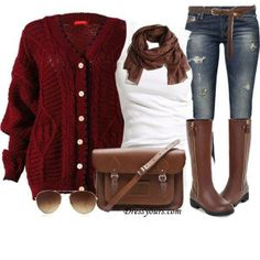 (Boots and jeans) Fall outfit DIY YOUR OUTFITS
