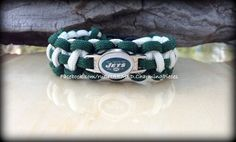 New York Jets Football Paracord Survival Bracelet  by ruCHARMED, $12.00