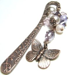 Beautiful bookmark! Sweet PinkLilac Pearl Beaded Cluster by JessHandmadeTrinket, $12.00