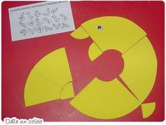 Spelletje voor kleuters, gratis printen, met veel legvoorbeelden / PEIXINHOS NO SOTÃO: Kids