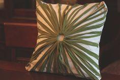 DIY Sunburst pillow