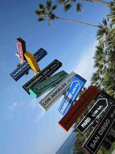 Where do you want to go? Picture it and set sail. Photo: Sign post at San Diego Museum of Contemporary Art.