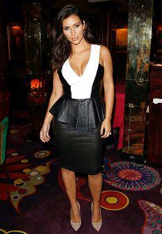 Kim Kardashian in Kardashian Kollection dress at the GENETIC X Liberty Ross Launch Event