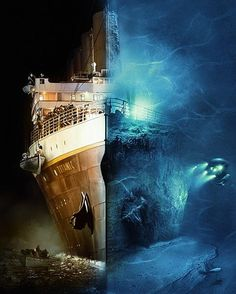 Titanic .. Before and after of the great ship