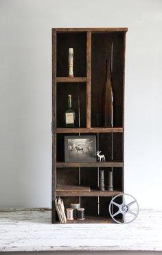 large antique wood drawer curiosity shelf by wretchedshekels, $188.00