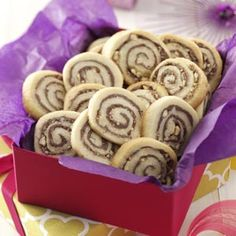 Chocolate-Hazelnut Pinwheels Recipe from Taste of Home  #ChristmasCookies