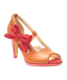 Take a look at this Honeymoon A Preppy Lady Open-Toe Pump by Poetic Licence on #zulily today!