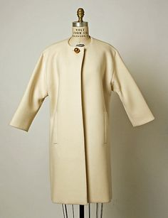 Coat.  House of Balenciaga (French, founded 1937).  Designer: Cristobal Balenciaga (Spanish, 1895–1972). Date: 1968. Culture: French. Medium: wool.