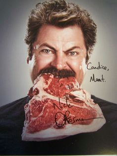 I wrote Nick Offerman and received this in the mail today - Imgur