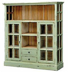 mint green window cabinet