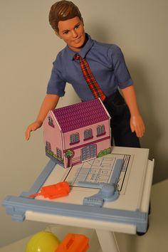 Ken at work, designing pink houses. | Flickr - Photo Sharing!