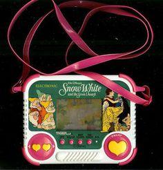 1990s DISNEY SNOW WHITE & THE SEVEN DWARFS 7 TOY TIGER ELECTRONIC HANDHELD GAME White Tigers, 1990S, Remember, Toys Tigers, Handheld Games, Disney Snow, 90S Fun, White Games, Snow White