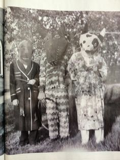 """American Halloween photographs collected by Ossian Brown. See his book, """"Haunted Air."""""""
