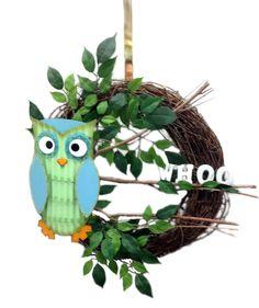 Owl Wreath designed by Lynn A.C. Moore Syracuse, NY #wreath