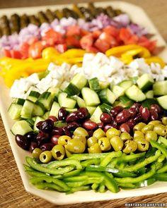 Greek Salad idea, food, fun recip, yum, eat, martha stewart, salads, parti, greek salad