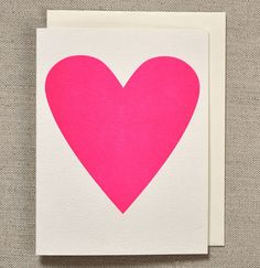 neon pink heart card from banquet atelier & workshop.