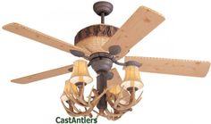 ceiling fans, reproduct antler, lodg ceil, antler dark, dark lodg, ceil fan