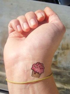 Cute Cupcake Tattoo. This might happen. If I decide to tattoo my left wrist...