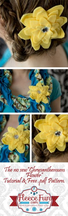 No Sew Fleece Chrysanthemum Flower