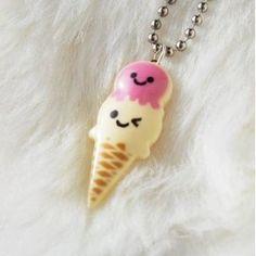 Kawaii Happy Icecream Necklace $12.00