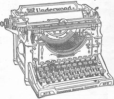 Antique Graphic Underwood Typewriter -- from Angie  at Knick of Time #free #printable