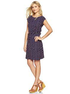 Gap Dot Drawstring Dress