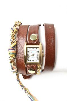 love this friendship bracelet wrap-around watch