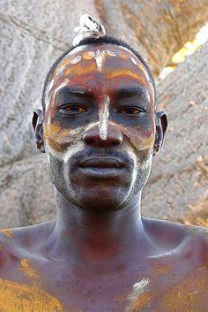 Nuba man, Sudan