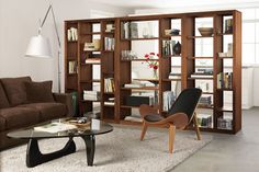Might be a great way to divide living room from school space and create storage!