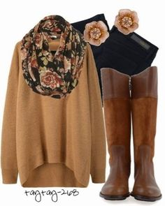 . ugg boots, tall boots, fall time, fall looks, fall outfits, winter outfits, brown sweater, casual outfits, brown boots