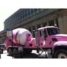 Pink big truck