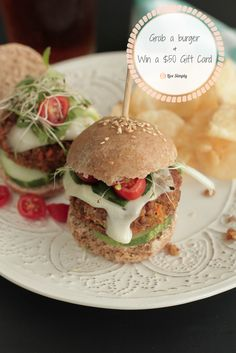 The best veggie burger recipe and a $50 gift card giveaway!
