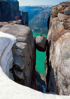 Kjerag, Norway... would love to stand there someday!
