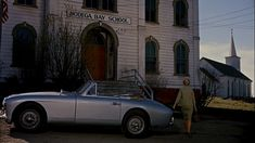 Tippi Hendren/Aston Martin DB2-4 Drophead Coupe/The Birds/1963