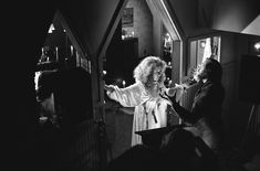 Brian DePalma and Piper Laurie on the set of Carrie (1976)