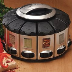 Auto-Measure Spice Carousel – $19 #spice #kitchen #food #eat #meal #carousel #dispenser #automatic #measure #