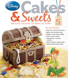 Issue 5 provides a treasure trove of goodies, including Peter Pan's treasure chest! #disneycakesandsweets
