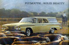 1961 plymouth, station wagon