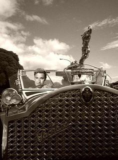 Errol Flynn & his Packard