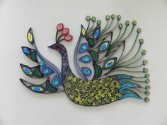 Quilled Peacock - via Etsy.