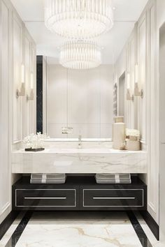 When it comes to bathroom decor, we can present several options such as glamourous, simple, or colorful decor. There are many tricks to convert a typical bathroom into a luxury ambiance, like following the main trends. After all, interior design trends defined brass finishes, marbelized wallpapers, black tubs, and framed mirrors as big hits. Get to know some fabulous bathroom ideas. #bathroomdecor #bathroomideas #interiordesign #homedecor